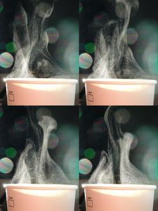 Steam from Coffee