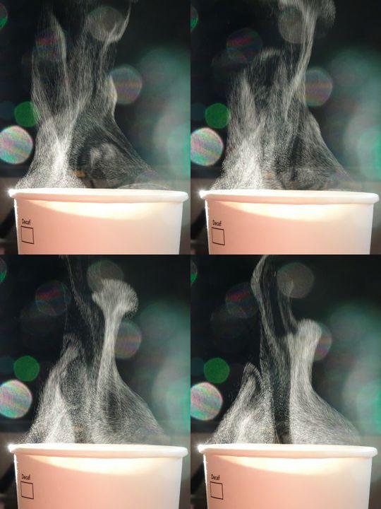 Steam from Coffee - Maria Popescu