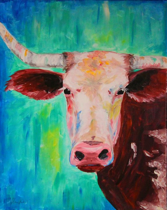 Colorful Cow - Maria Popescu