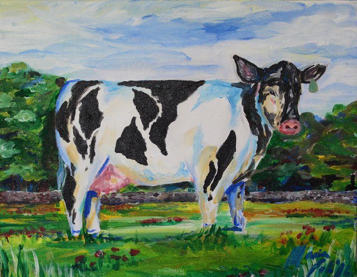 Cow in Field - Maria Popescu