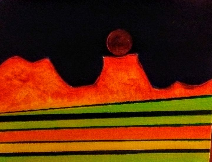 Moon over the mesa - Eclectic Creations