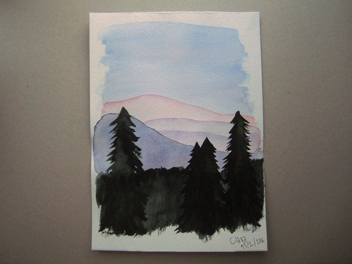 Colorful Hills and Dark Trees - Micah