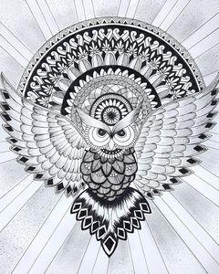 owl mandala art