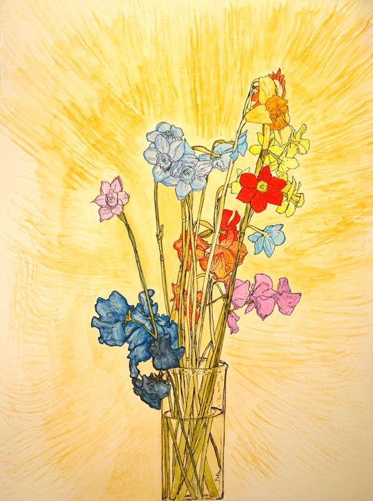 Flower Still Life - Po Ku