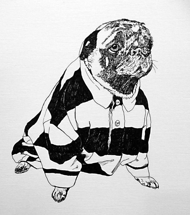 Pug shirt - Po Ku