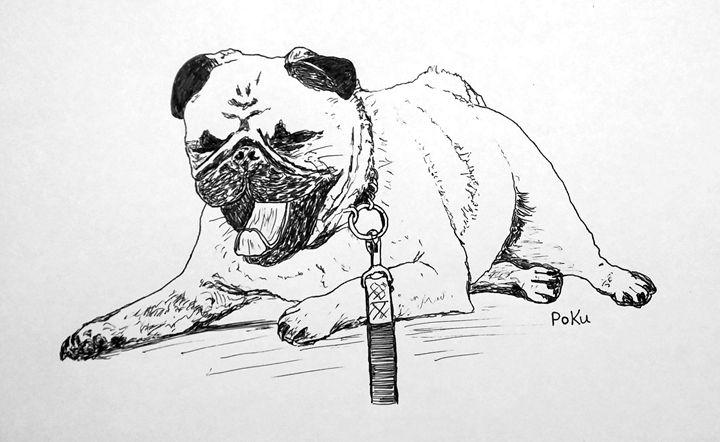 Pug Yawning - Po Ku
