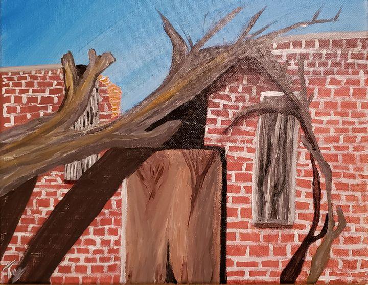 Fallen Tree in Kernes - Ty Hall
