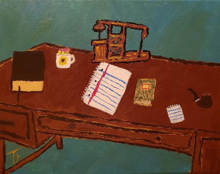 Desk With Absent Bottle - Ty Hall