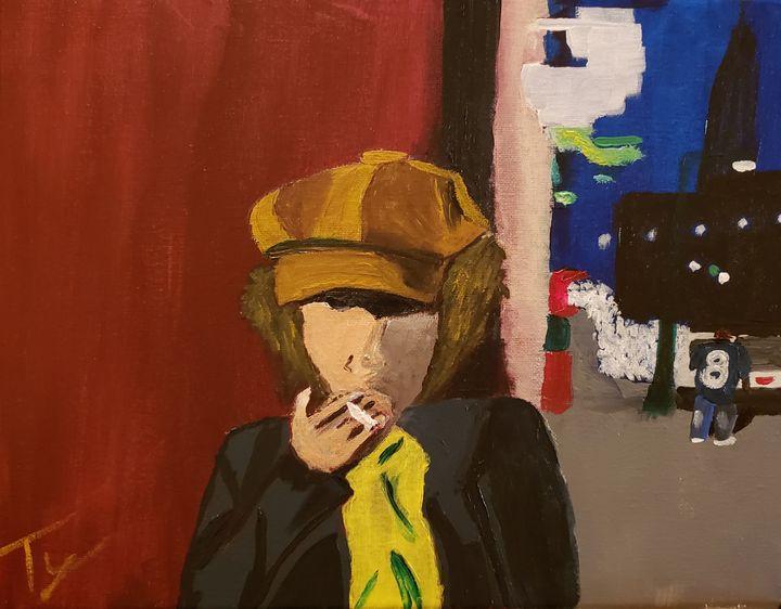 Self-portrait in Austin at Night - Ty Hall