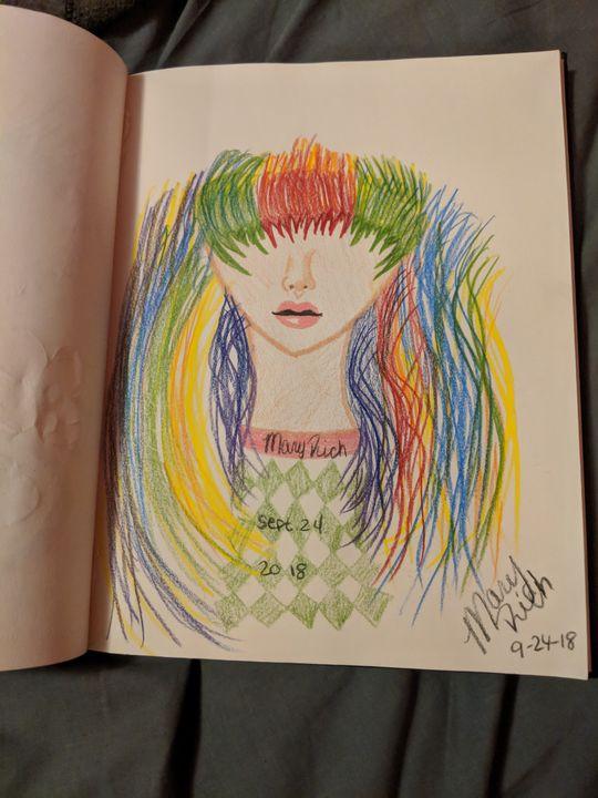Rainbow hair - Mary Rich