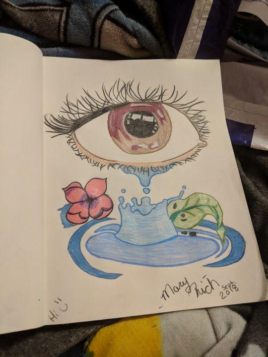 Crying eye - Mary Rich