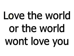 love the world quote