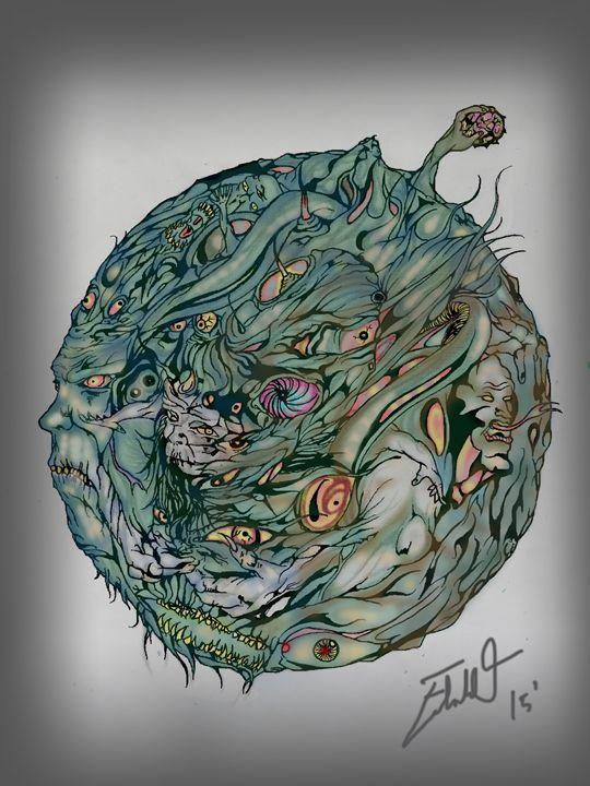 Inverted Earth - Edward Orquiz's Art
