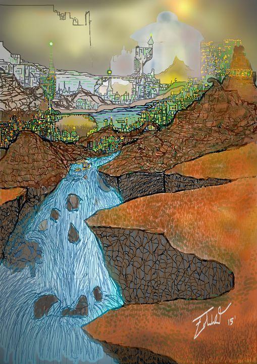 City on a hill - Edward Orquiz's Art