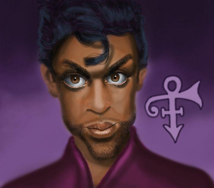 Prince caricature - Marvin Teeples