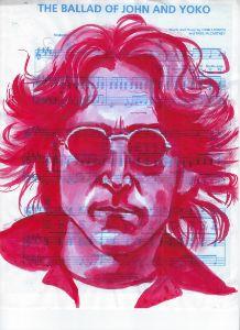 John Lennon on sheet music