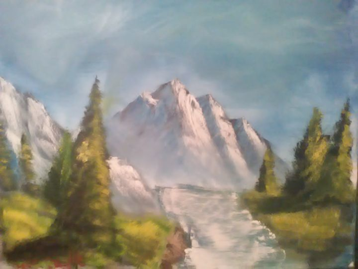 The mountain river - W.C. Caudle's landscape paintings
