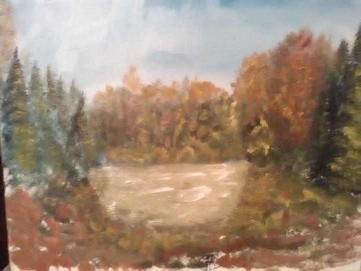 Autumn Forest - W.C. Caudle's landscape paintings