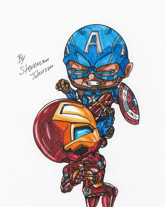 """"""" Ironman vs Captain America """" - Stevensonjohns"""