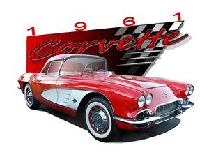 red '61 Corvette