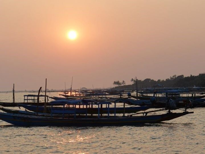 Sunset view at Chilika Lake - Monalisa's Art Beats
