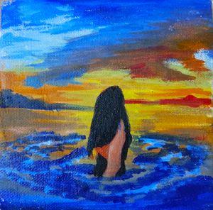 A girl in beach
