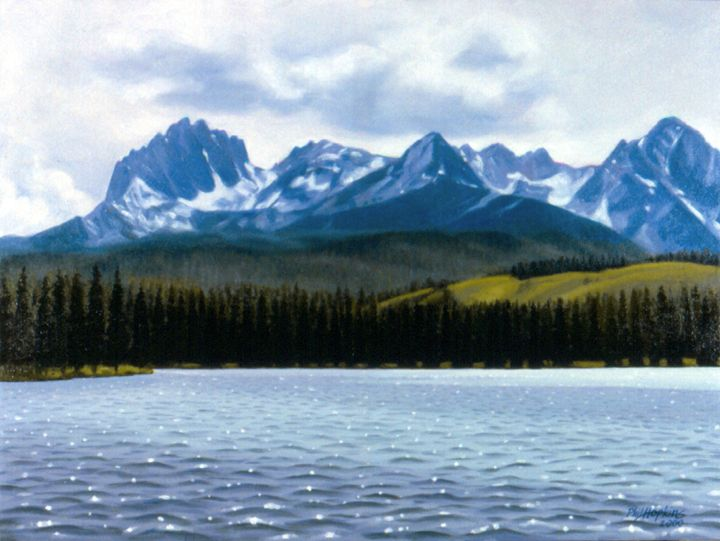 Sawtooth Mountains - philhopkinsfineart