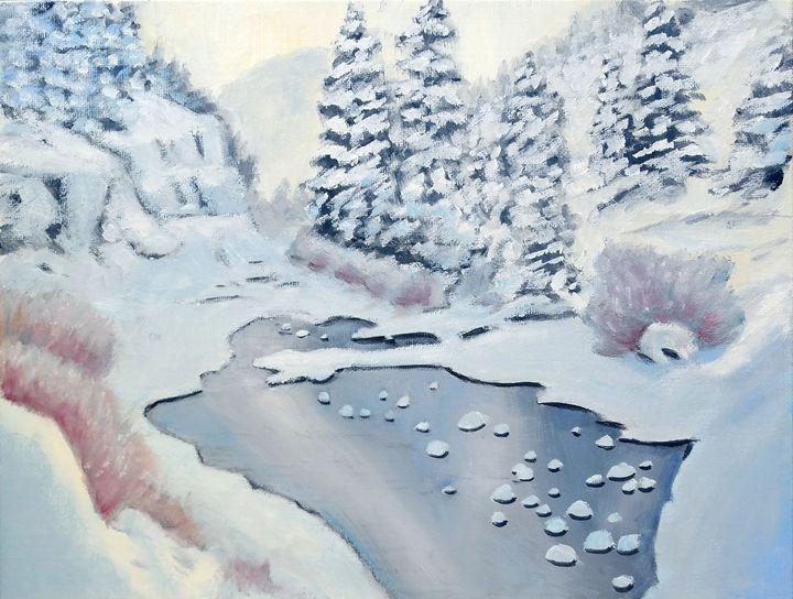 Frozen Stream - philhopkinsfineart