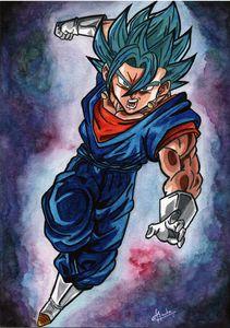 Vegito Blue painting