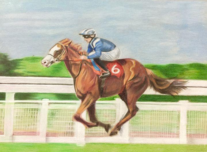 Racing horse - Krishiarts