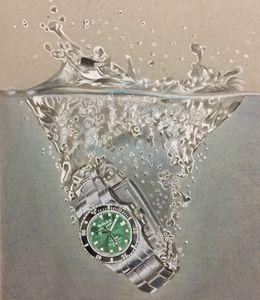 Rolex in water