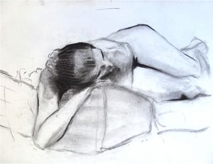 Reclining woman figure