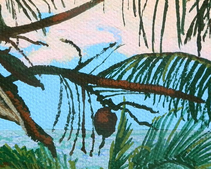 8b5275ab3 Caribbean Coconut - Margaret LN Brooks - Paintings & Prints, Flowers ...
