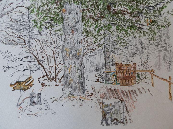 Alpine Snow Scene - Margaret LN Brooks