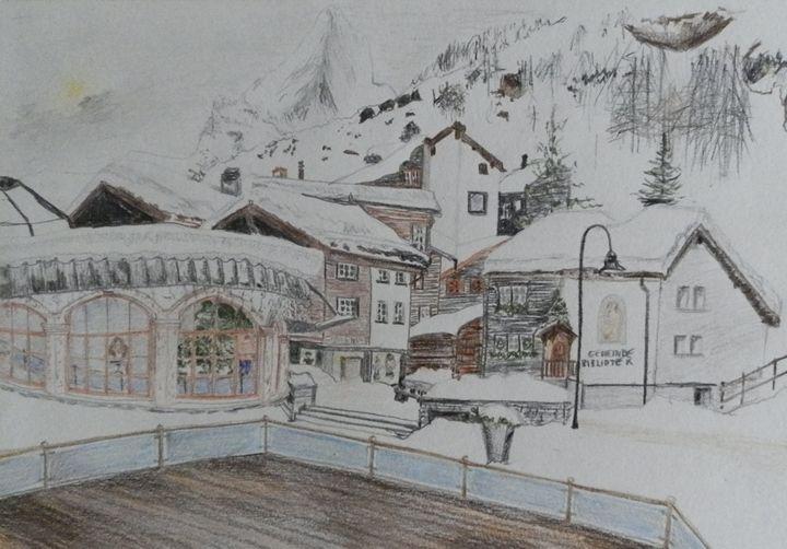 Zermatt in January - Margaret LN Brooks