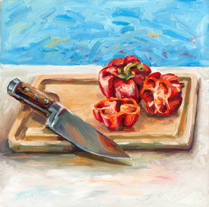 Knife & peppers - Charles Foley