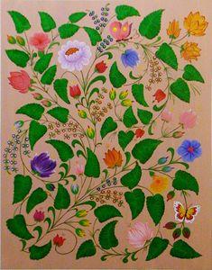 Leaves-Flowers-Butterflies