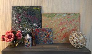 Acrylic hand paintings