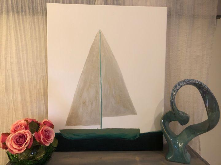 Acrylic sailboat - Amanda E. Bryant