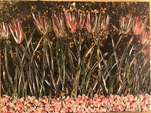Acrylic wildflowers