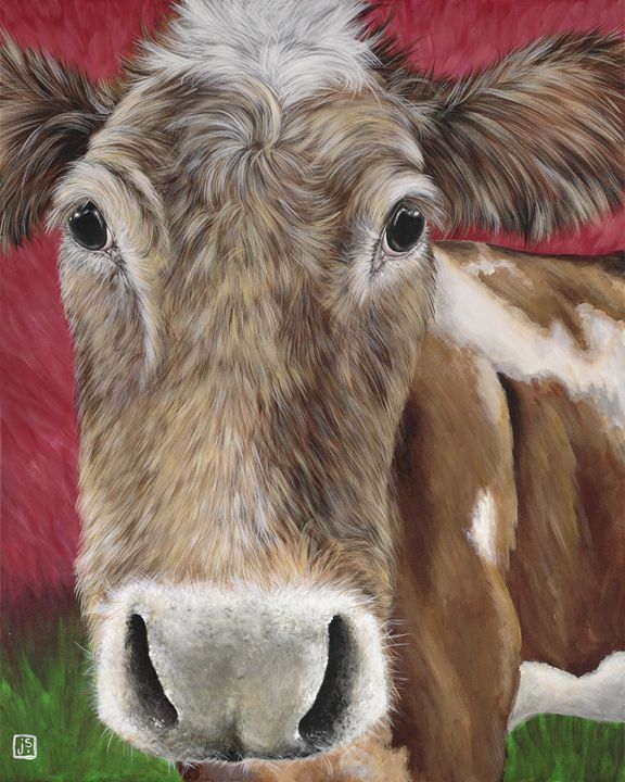Hey now brown cow! - Janice Serilla Art and Design