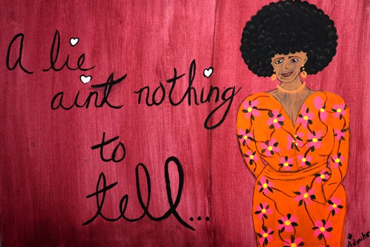 A lie ain't nothing to tell - Little Afro Girl