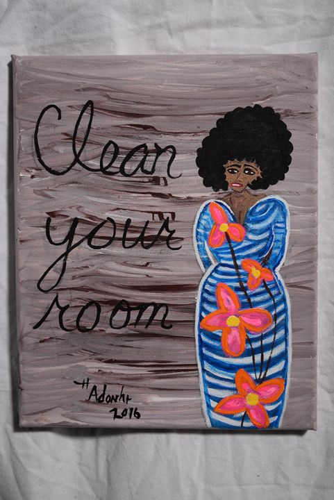 Clean your room - Little Afro Girl