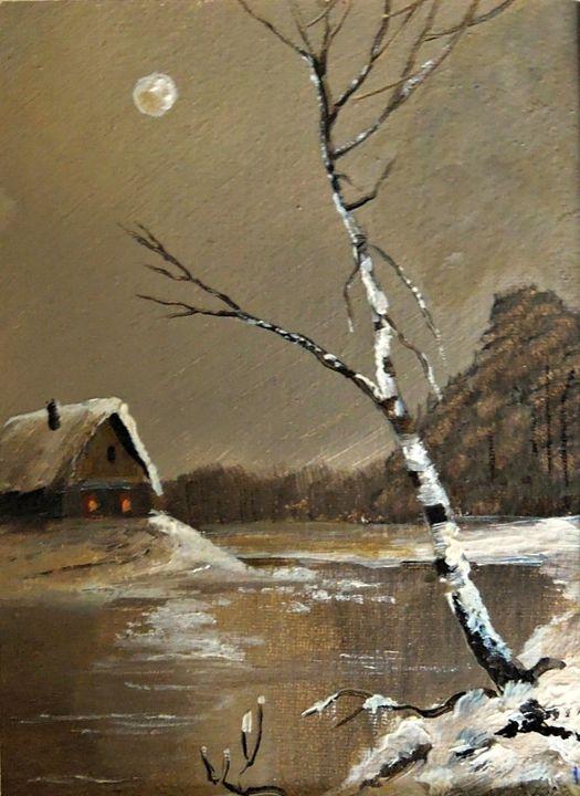 Silver Birch on a Moonlit Night - Naturelands