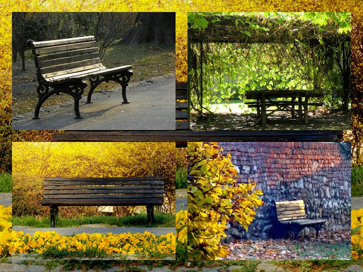 Benches In The Park - dadaart