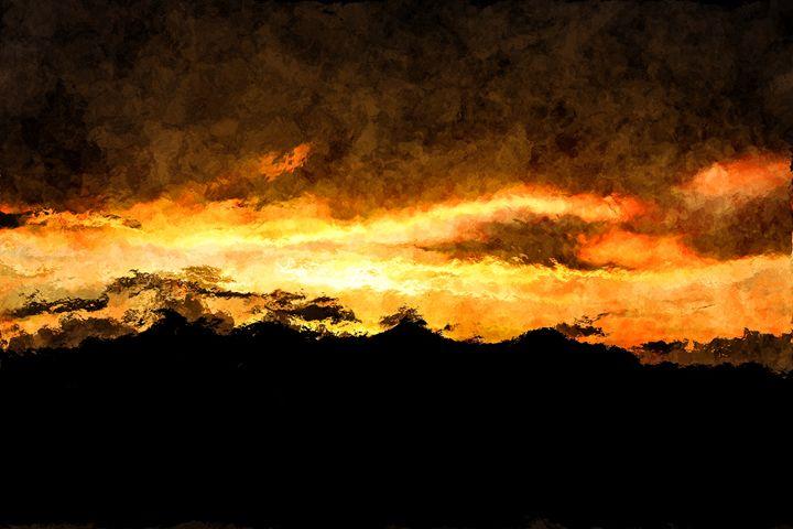 Burning Midnight Sky - CibArt