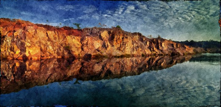 Sandstone Rock Reflect - CibArt