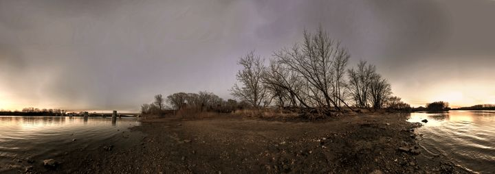 Night River Panorama - Casey Becker