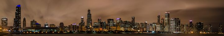 The Chicago Skyline on a Rainy Night - Sean Toler Photo