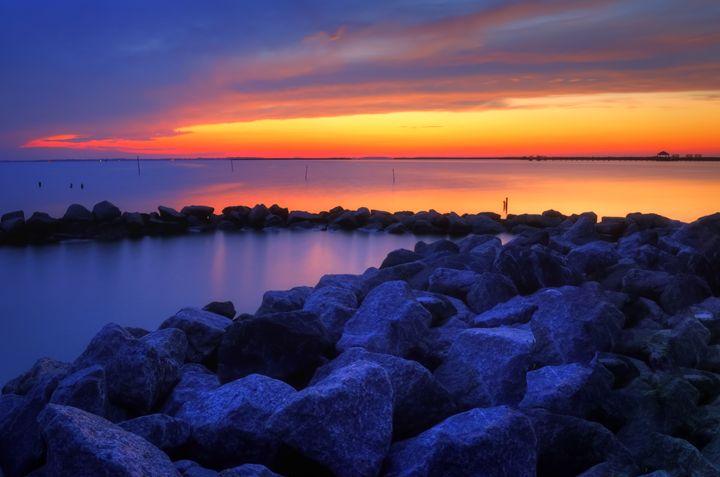Orange Fading Into Blue - Sean Toler Photo